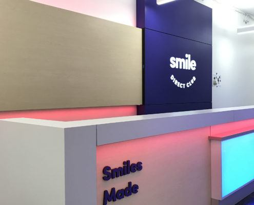 Color Changing Reception Desk