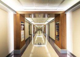 Hallway with graphics